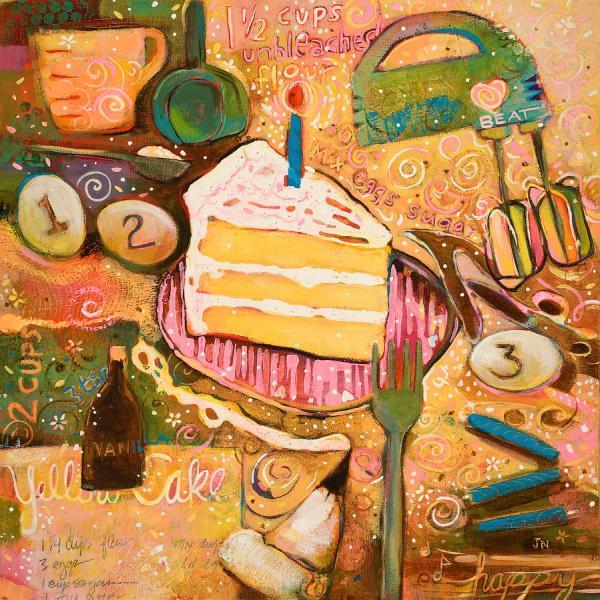 Yellow Cake Recipe Painting Jen Norton