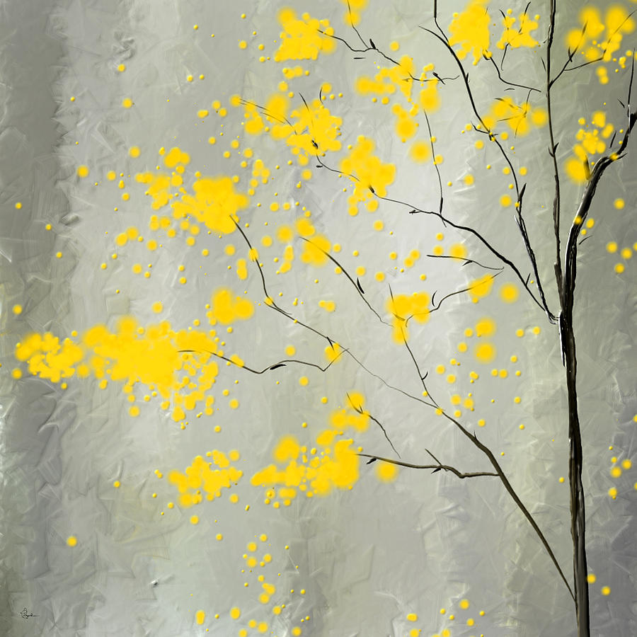 Yellow Foliage Impressionist Painting By Lourry Legarde
