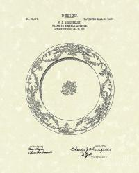 Ahrenfeldt Plate Design 1907 Patent Art Drawing by Prior