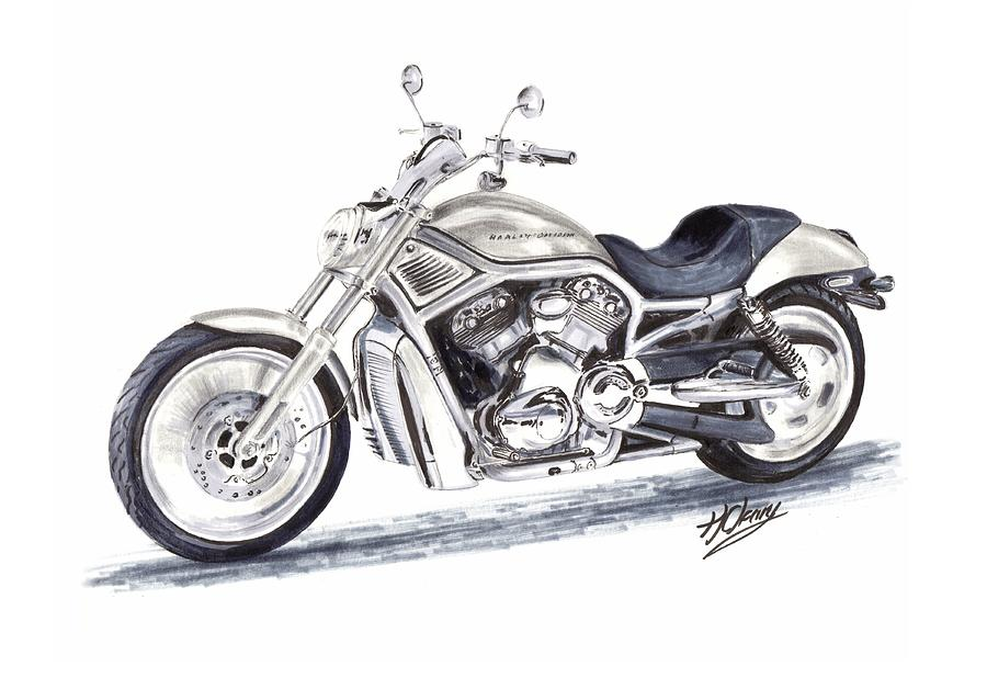 Pencil Drawings Harley Davidson Motorcycles