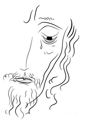 jesus christ drawing jezus simple michal boubin chrystus drawings sketch coloring obraz rysunek fineartamerica symbol hdimagelib credit larger guardado zdjęciu