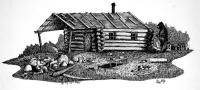 Log Cabin Drawing by Olin McKay
