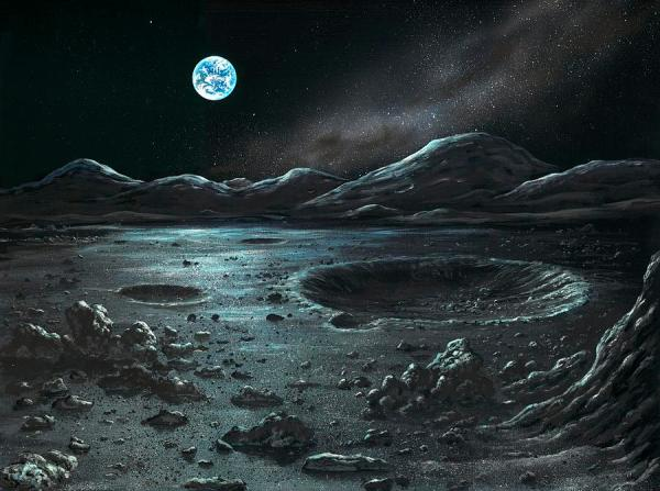 lunar landscape artwork