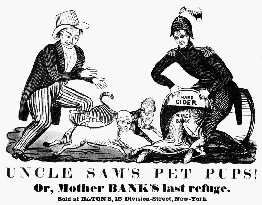 Uncle Sam Cartoon, 1840 by Granger