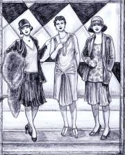 1920s styles drawing mel thompson