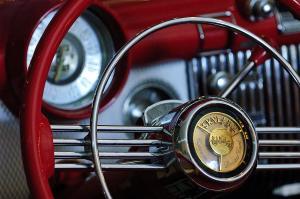 1953 Buick Skylark Convertible Steering Wheel Photograph