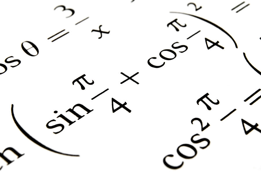 Algebra Formulas Close Up. Photograph by Fernando Barozza
