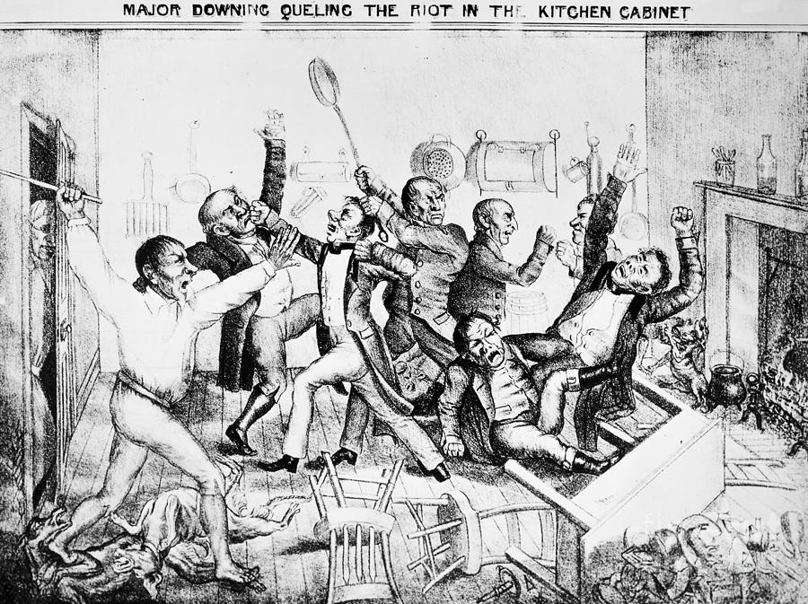 Andrew Jackson Cartoon Photograph by Granger