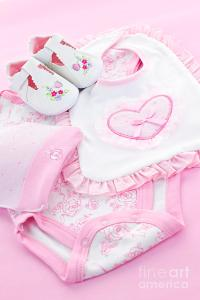 Pink Baby Clothes For Infant Girl Photograph by Elena ...