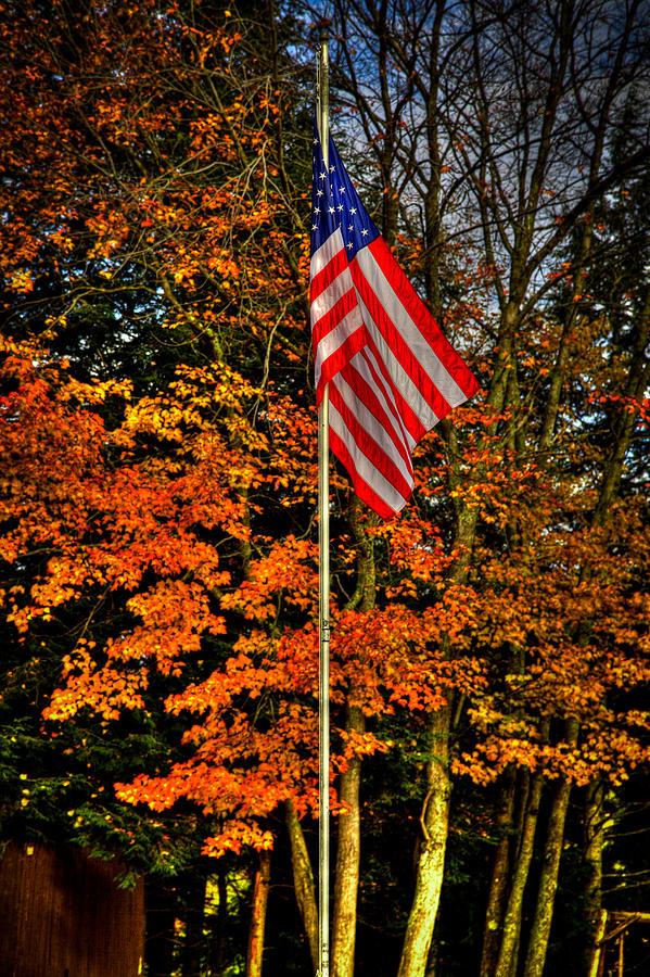 A Patriotic Autumn Photograph by David Patterson