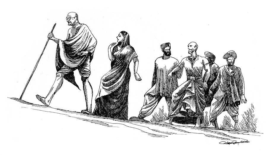 A Tribute To Mahatma Gandhi by Abdul Rahim N S