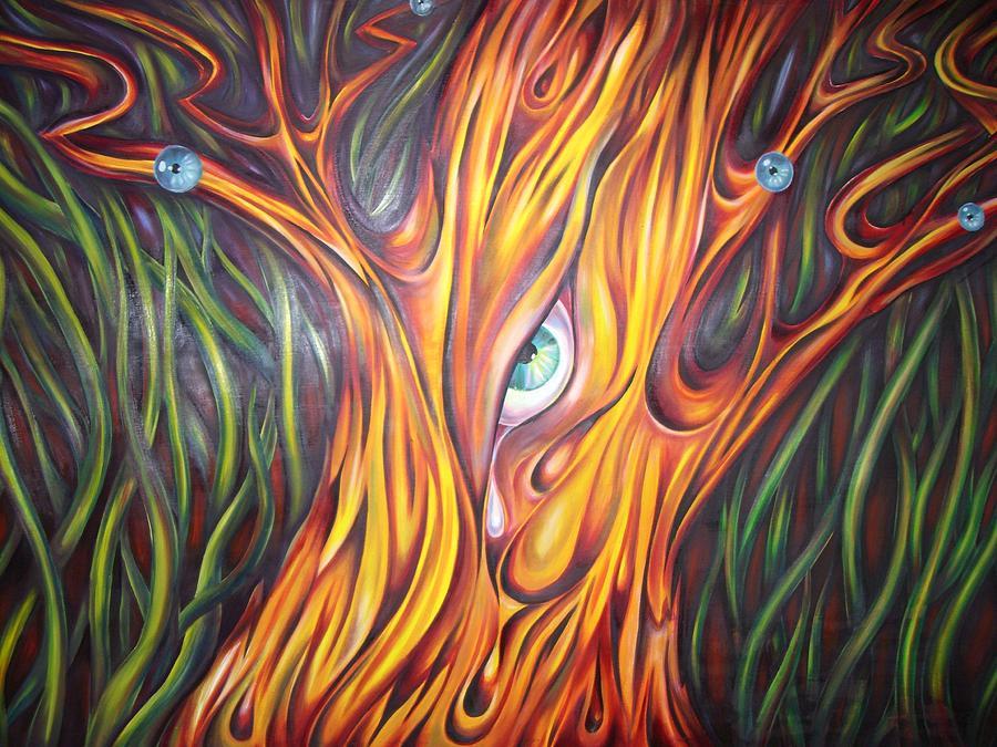abstract art tree on