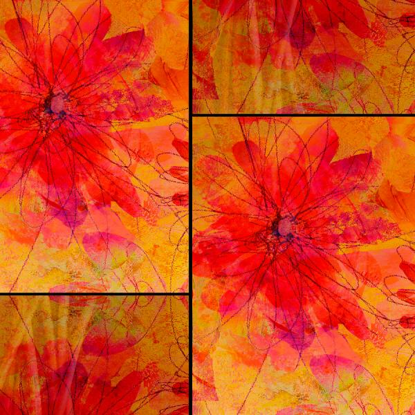 Floral Abstract Art Digital Collage