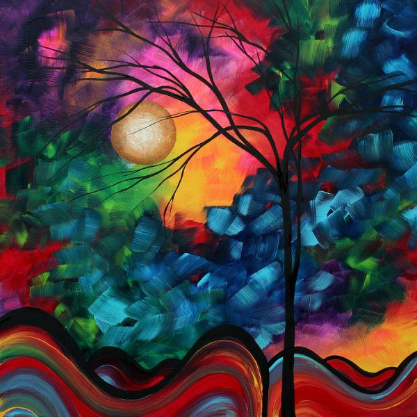 Colorful Abstract Landscape Paintings