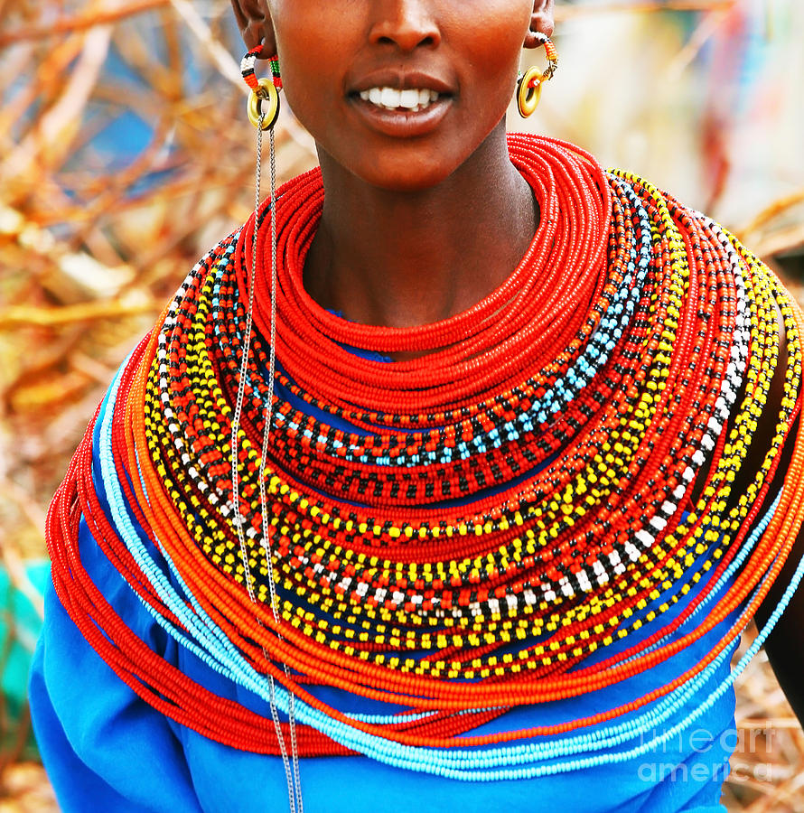 african woman with traditional