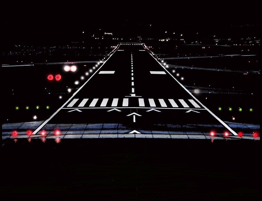 Image result for runway night view