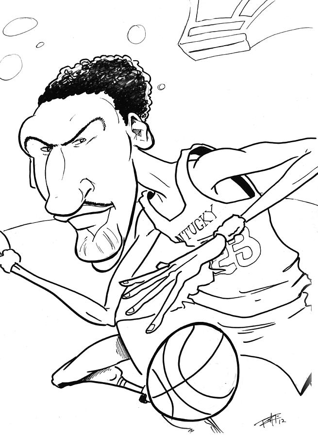 Anthony Davis Drawing by Big Mike Roate