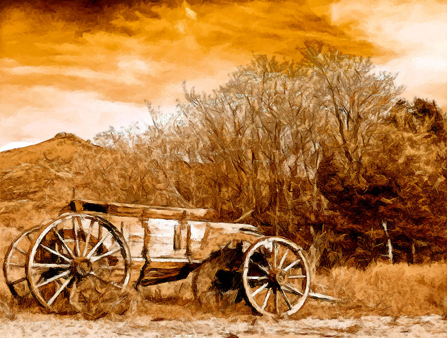 Antique Wagon Painting by Bob and Nadine Johnston