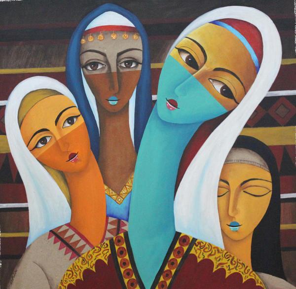 Arab Women Painting Aeich Thimer