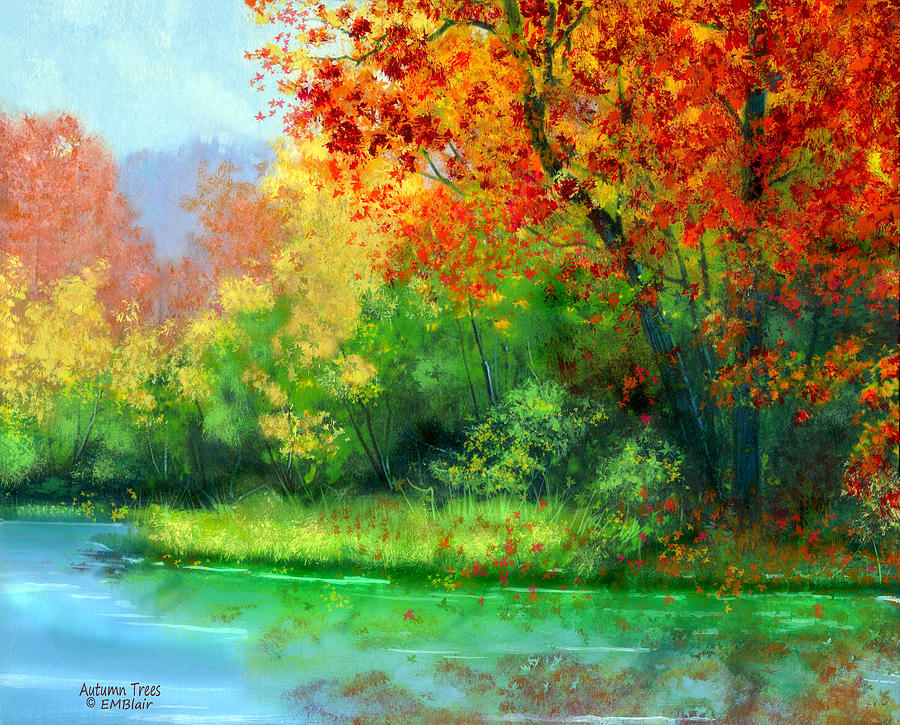 autumn trees by eileen