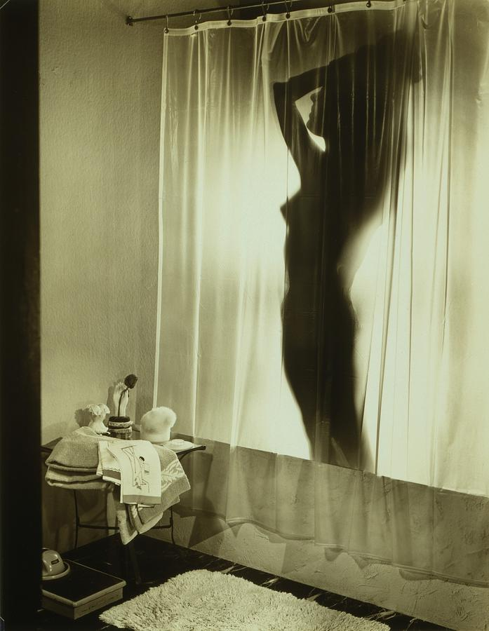 back lit silhouette of nude woman by everett