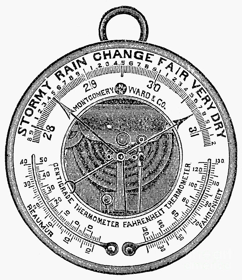 Barometer, 1900 Photograph by Granger