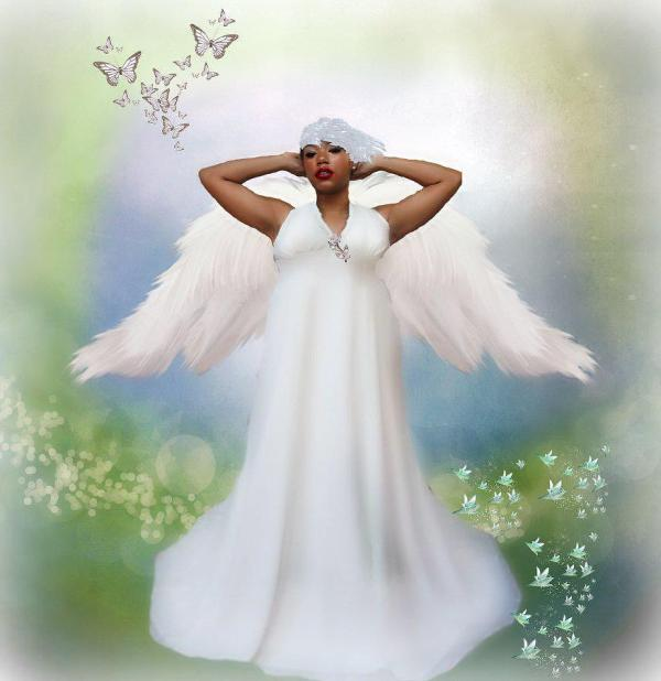 Black Angel Digital Art Mitzi Winston