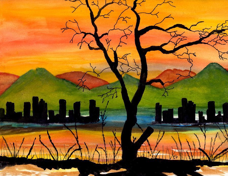 black tree painting no2