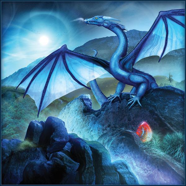 Blue Dragon Digital Art Bryan Dechter