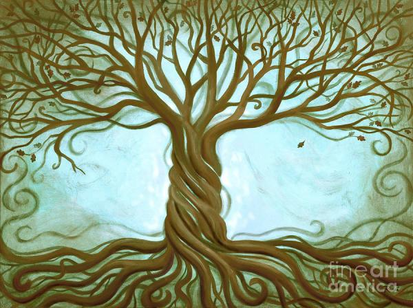 Blue Tree Of Life by Renee Womack