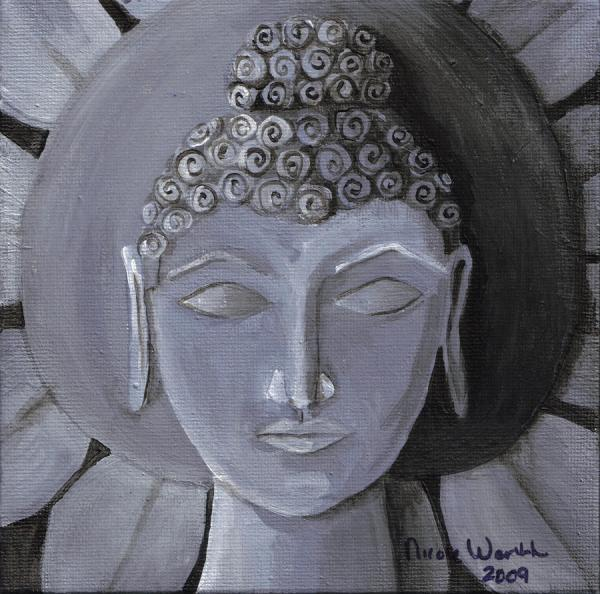 Buddha With Stone Lotus Nicole Werth