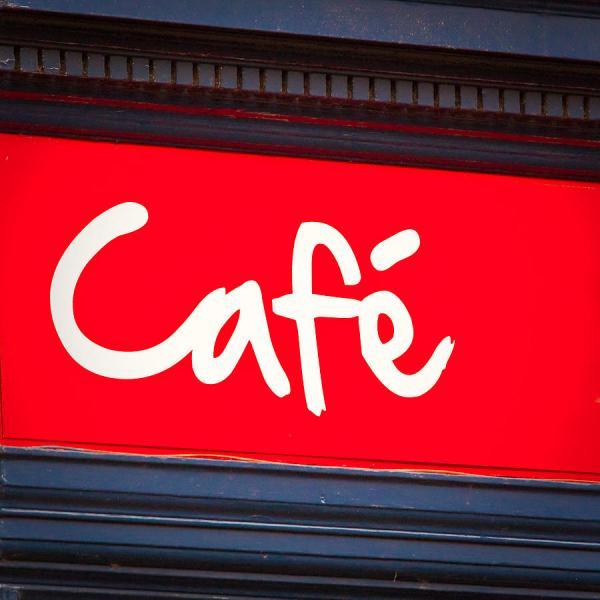 Cafe Sign Tom Gowanlock