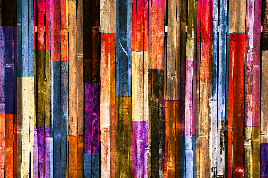 Abstract Photograph Candy Color Wood Wall Background By Kritiya Sumpun How To Print