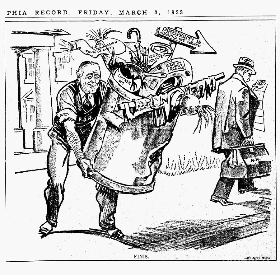 Cartoon: Fdr, 1933 Photograph by Granger