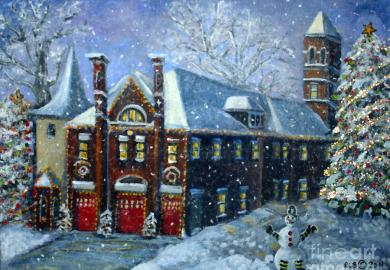 Christmas House Painting