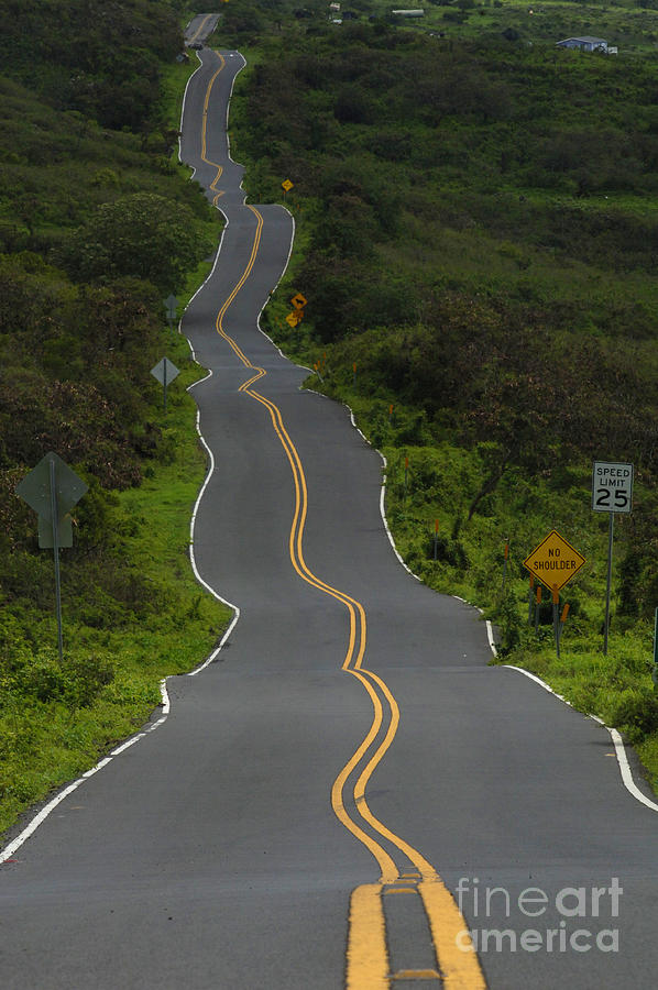 Crazy Road On Maui Photograph by Bob Christopher