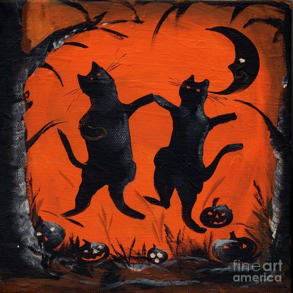 Halloween Black Cat Dancing