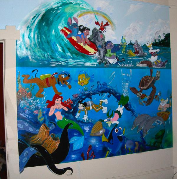 Disney Mural Painting by Robert Lettrick