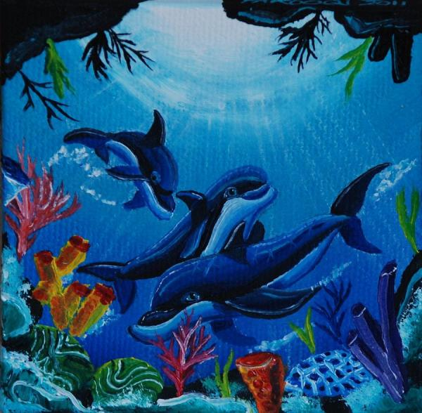 Underwater Dolphin Cave Paintings