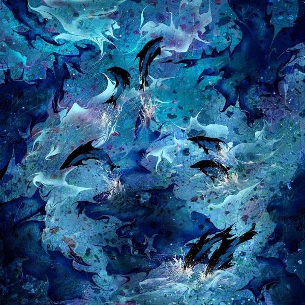 Dolphin Abstract Art Paintings