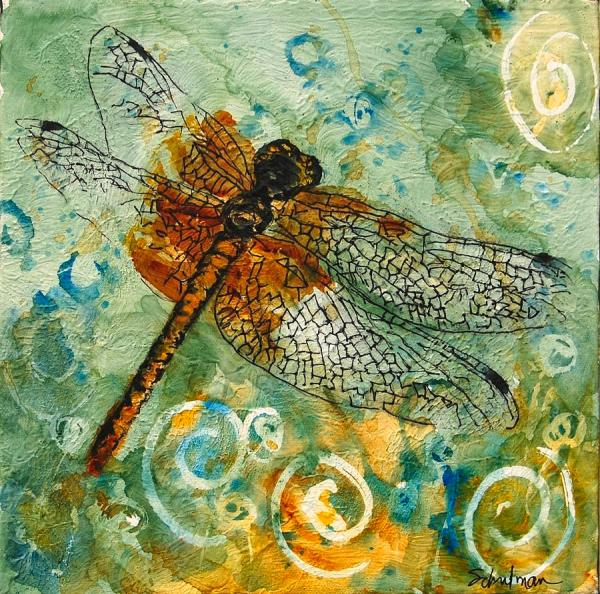 Watercolor Dragonfly Art