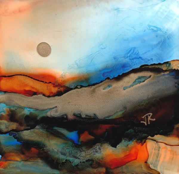 June Rollins Alcohol Ink Painting