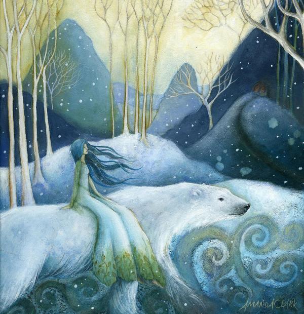 Silver Swan Snow Queen In Art