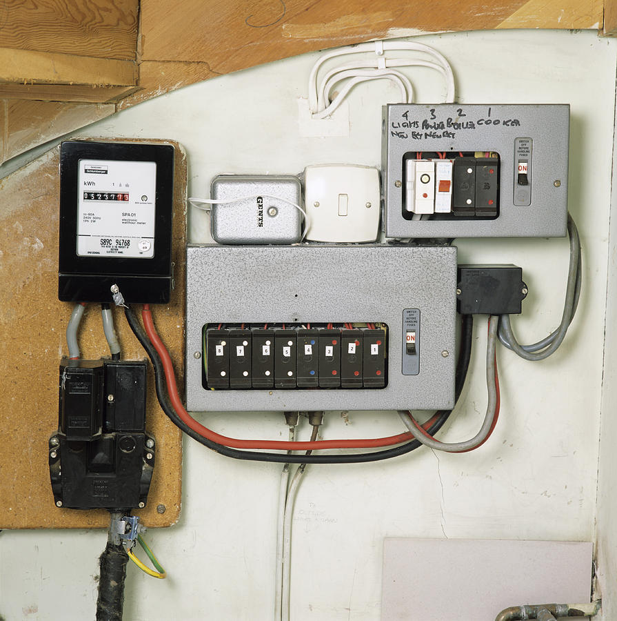 hight resolution of electricity meter and fuse boxes