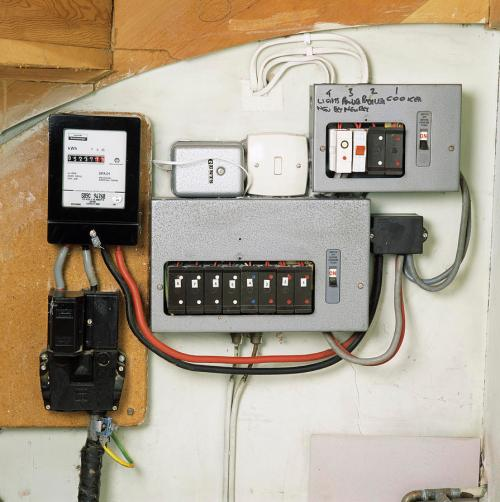 small resolution of electricity meter and fuse boxes