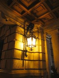 Elegant Antique Looking Lamp Post At Night In Valencia ...