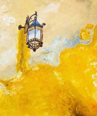 Exotic Street Lamp Painting by Anuradha Mukherji