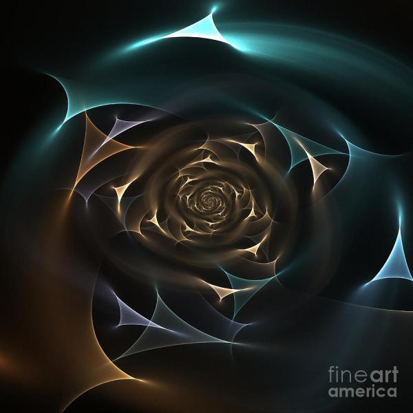 Fractal Rose Digital Art Klara Acel