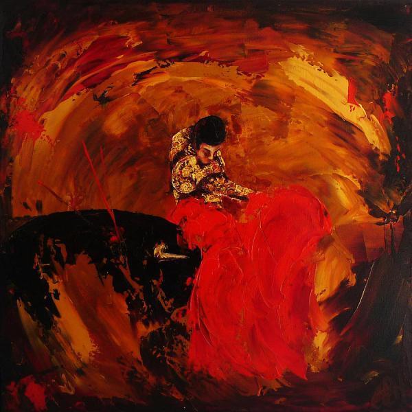 Spanish Bullfighter Painting