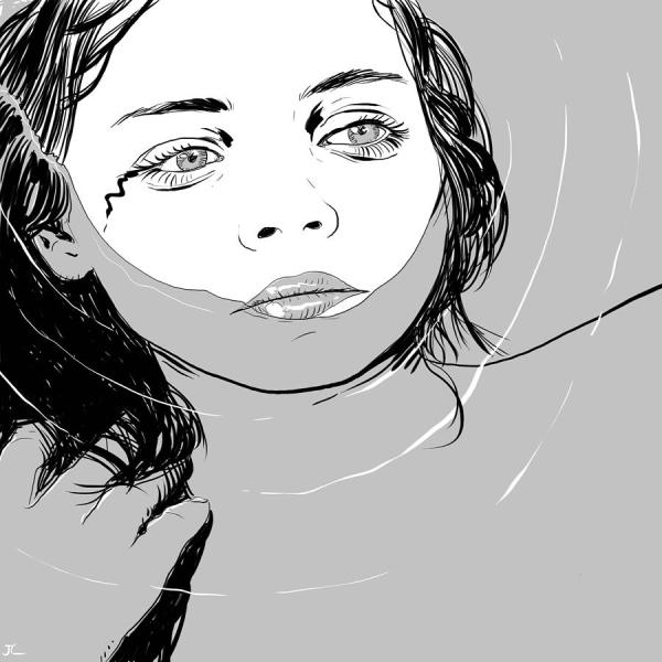 Water Girl Drawing